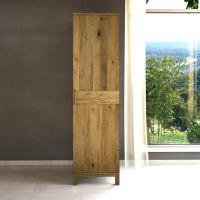 Garderobenschrank Massivholz LINO 1 Türig Wildeiche
