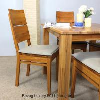 Sitzkissenbezug für Kissen Stuhl LINO ohne Sitzschaum Bezug Stoff Luxury