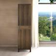 Schmaler Holz Kleiderschrank mit Einlegeböden LINO Nussbaum