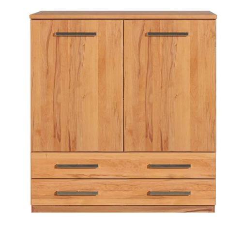 Schlafzimmer Highboard mit Schubladen LINO Massivholz - Flachsockel Nussbaum