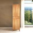 Schmaler Holz Kleiderschrank mit Einlegeböden LINO