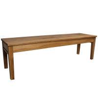 LINO Sitzbank LA5 ohne Rückenlehne Kernbuche geölt 180x47x43 cm