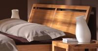 Elegantes Massivholzbett in Nussbaum LINO Classic 160 x 200 cm