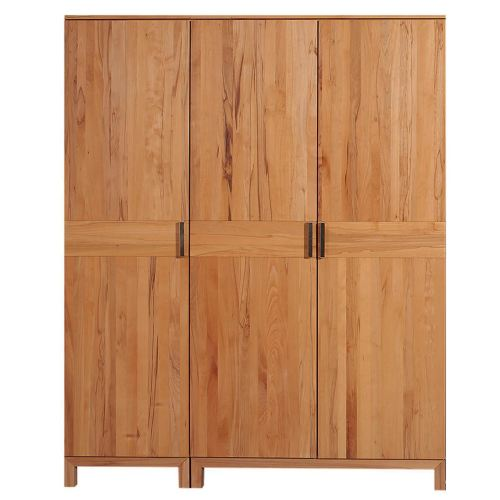 Hochwertiger Kleiderschrank Holz LINO 3 Türig Kernbuche
