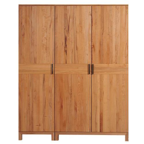 Hochwertiger Kleiderschrank Holz LINO 3 Türig Wildeiche