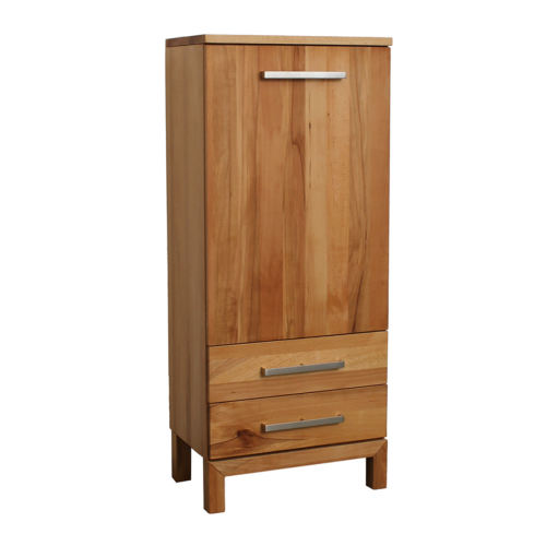 Schmales LINO Highboard Holz Kernbuche