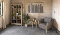 Beistelltisch LINO mit Glasplatte und Holzablage