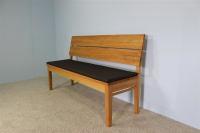 Sitzkissen für LA Bank mit Rückenlehne 120 cm Microfaser