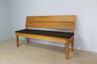 Sitzkissen für LA Bank mit Rückenlehne 120 cm Leder